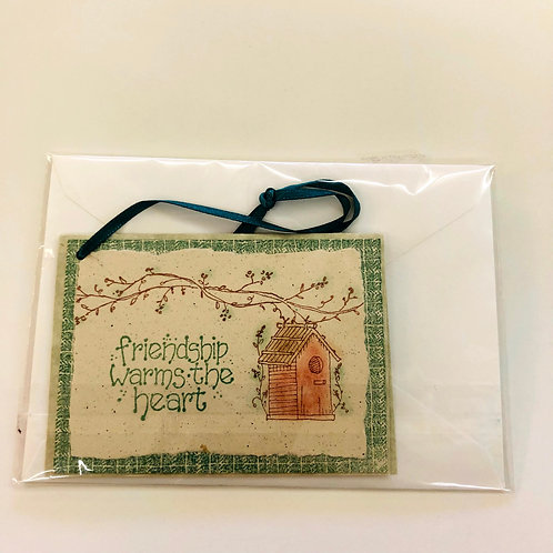 Friendship Warms Heart Handmade Card