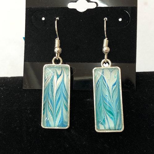 Pour Earrings (rectangular) #51