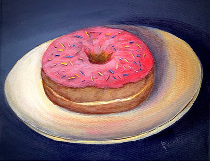 """Donuts: Sprinkles Are Just Glitter for Food!"", Acrylic"