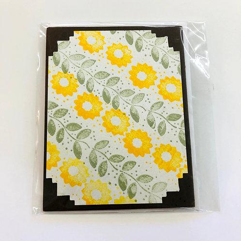 Sunflower and Vines Handmade Card