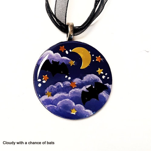Halloween Resin Pour Necklace