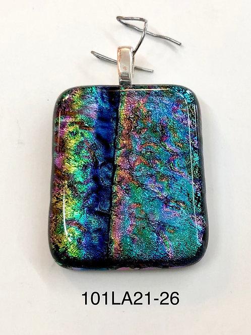 Dichroic Fused Glass Pendant #26