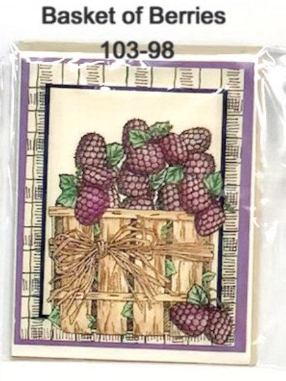 Basket of Berries Handmade Card