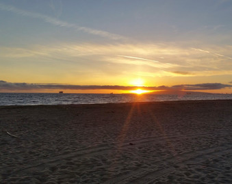 """""""Sunset in Southern Califonia – BBQ at the beach with friends"""", Photography"""
