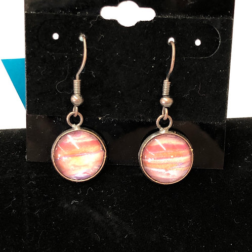 Acrylic Pour Earrings (round) #55