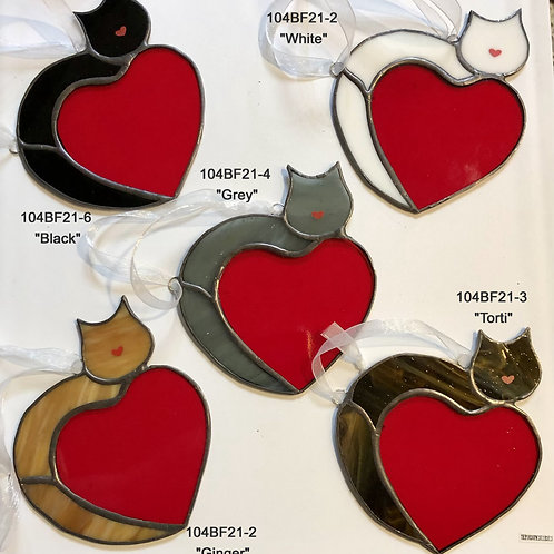 Stained Glass Love Cats
