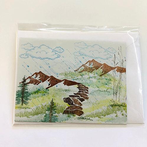 Landscape Stamp Handmade Card