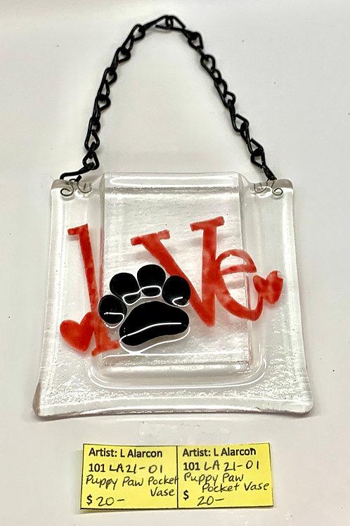 Puppy Love Pocket Vase