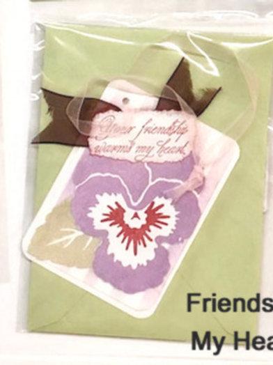 Friendship Warms My Heart Handmade Card