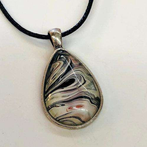 Acrylic Pour pendant #2