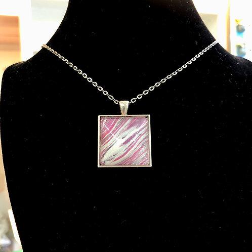 Acrylic Pour Necklaces (square)