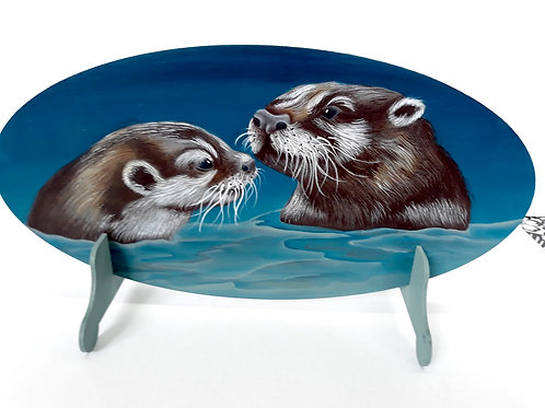 Sea otters (oval)