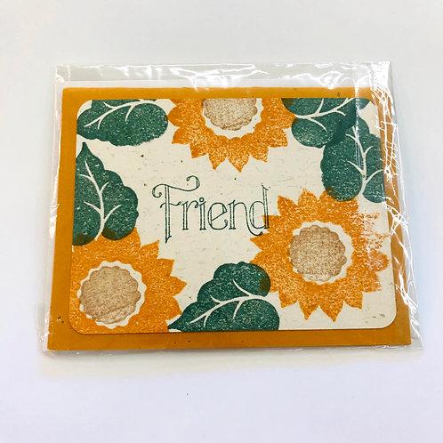 Sunflower Friend Handmade Card