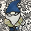 """Thumbnail: Stained Glass Gnome """"Hans"""" in blue and green"""