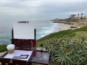 """Painting En Plein Air - La Jolla, CA"", Photography"