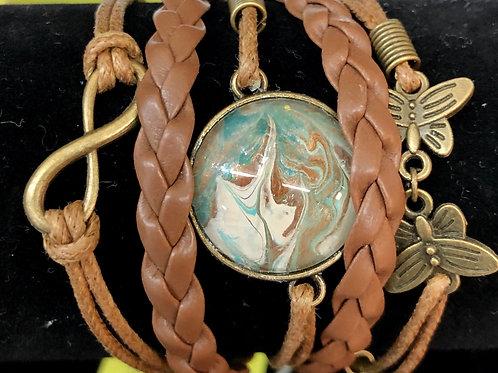 Acrylic Pour Bracelets