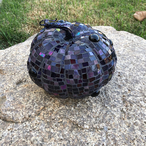 Stained Glass Mosaic Pumpkin