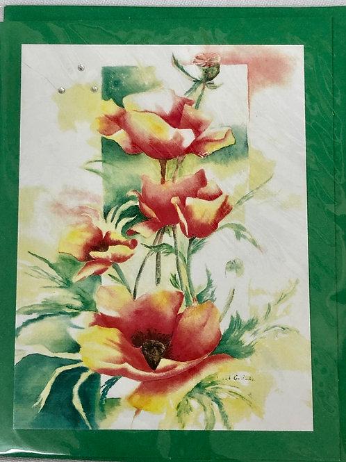 Poppies 1 Watercolor Print Card #25