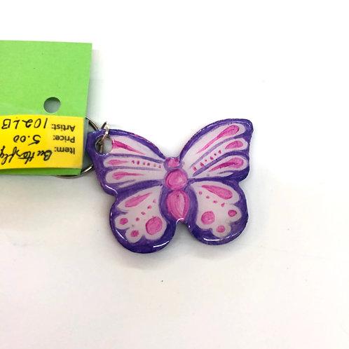 Pink/Purple Butterfly Key Chain #42