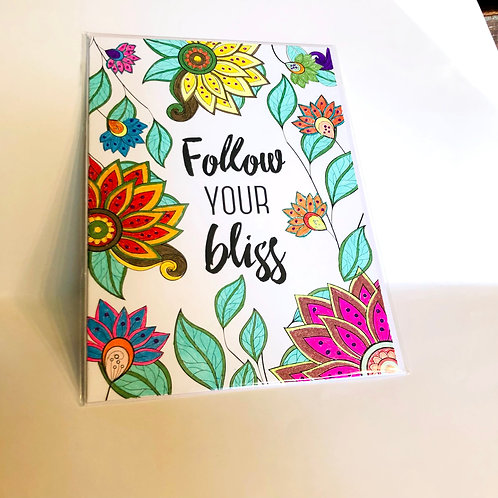 Follow Your Bliss #23 Hand-colored Card