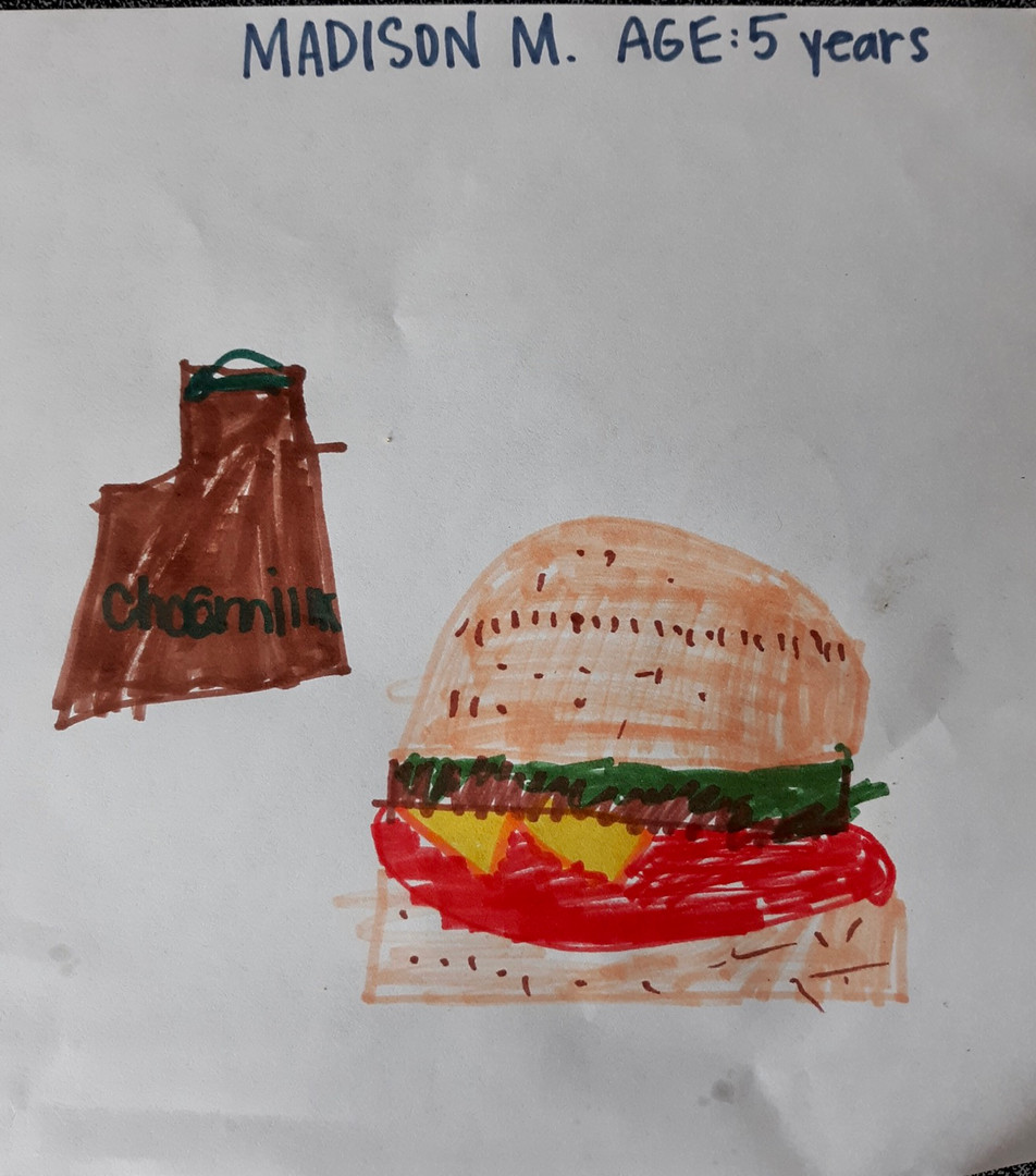 Burger and Chocolate Milk