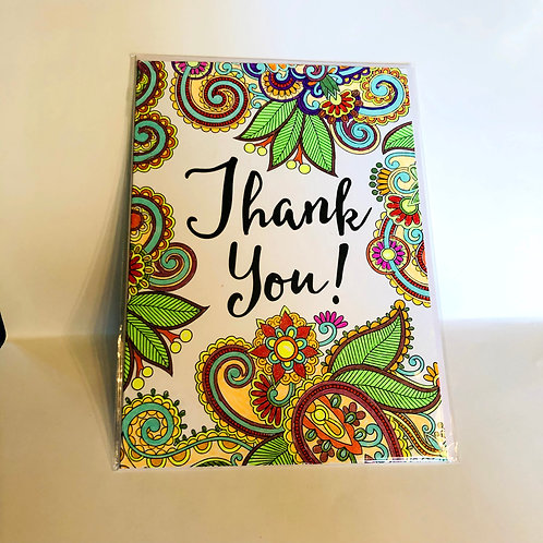 Thank You #22 Hand-colored Card