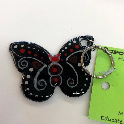 Black Butterfly Key Chain #40