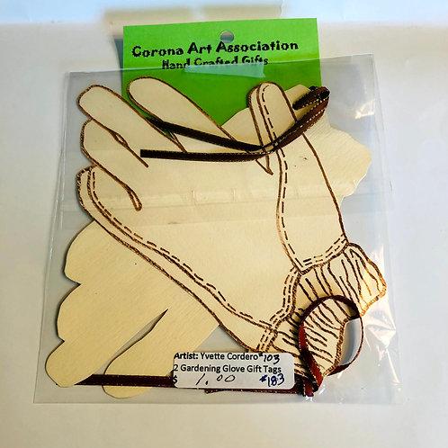 Gardening Glove Handmade Gift Tags 2 pack