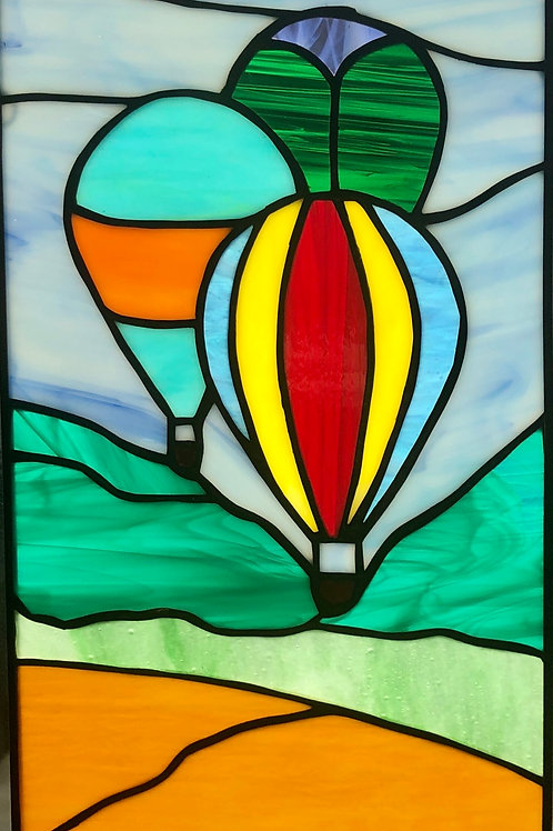 Stained glass hot air ballons