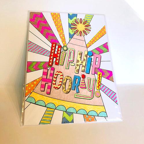 Hip Hip Hooray #16 Hand-colored Card