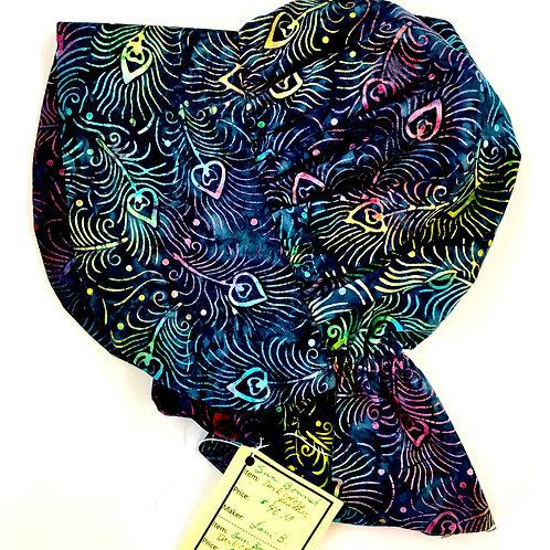 Multicolor on Black Gardening Sun Bonnet