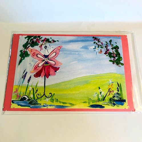Recycled Art Handmade Card #181