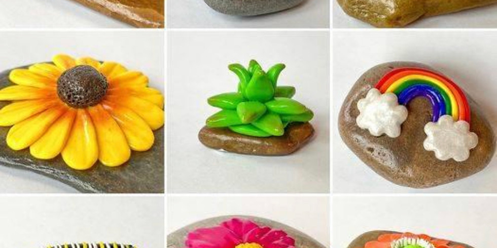 Youth Polymer Clay Sculpture on River Rocks Workshop (FREE)