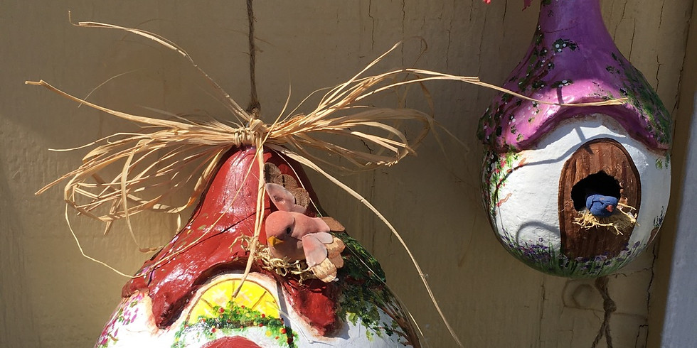 Gourd Birdhouses with Janet