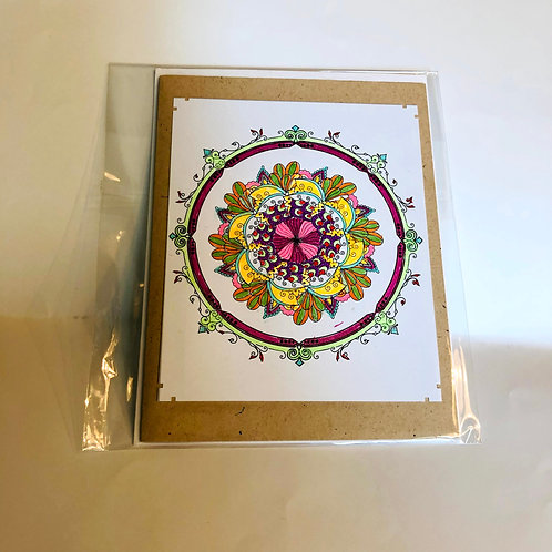 Circle #15 Hand-colored Card