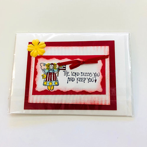 The Lord Bless and Keep You Handmade Card