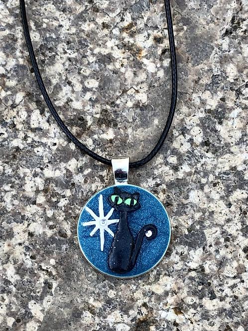 Atomic Cat Micro Sculpture Pendant