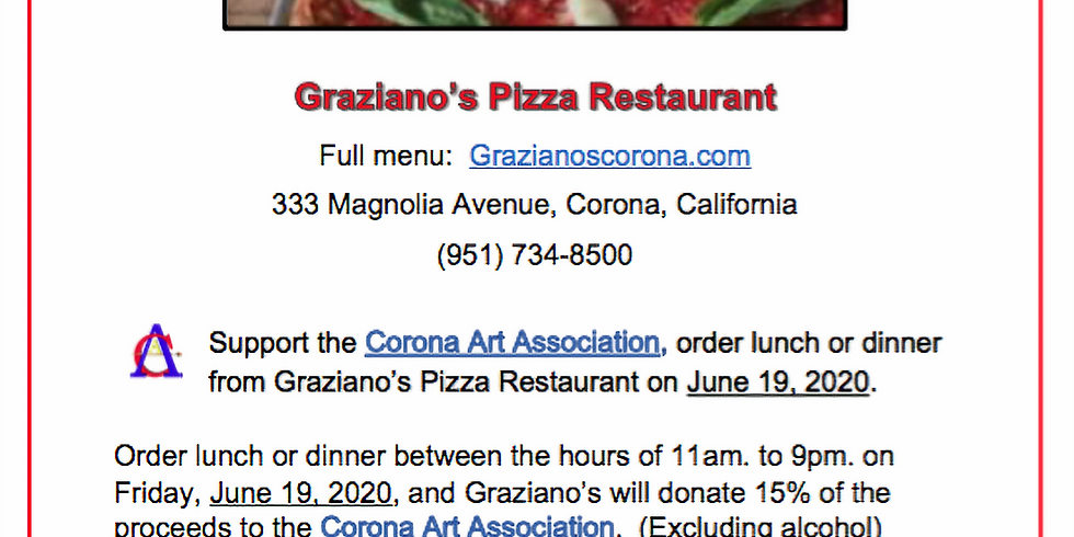 Graziano's Eat Out Fundraiser!