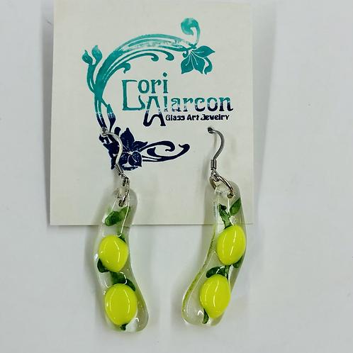 Fused Glass Lemons Earrings #8