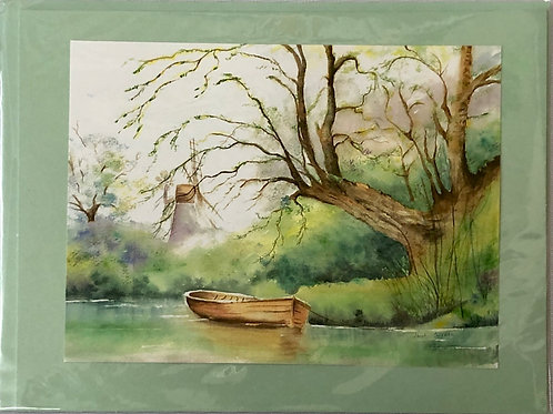 Quiet Pond Watercolor Print Card #28
