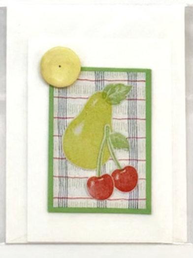 Pear Handmade Card