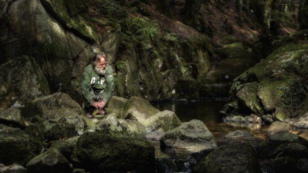 Martin op een uitstapje naar Wicklow Mountains waar Donal hem fotografeert