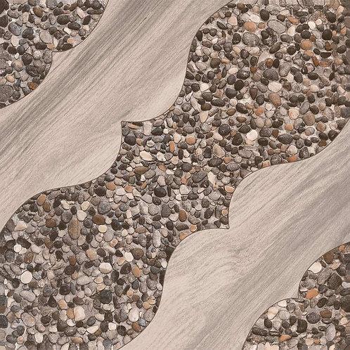 Termal Seramik - 42,5X42,5 Ahşap Stone Gri ( Mat )