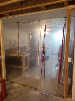 Dust containment new passage way