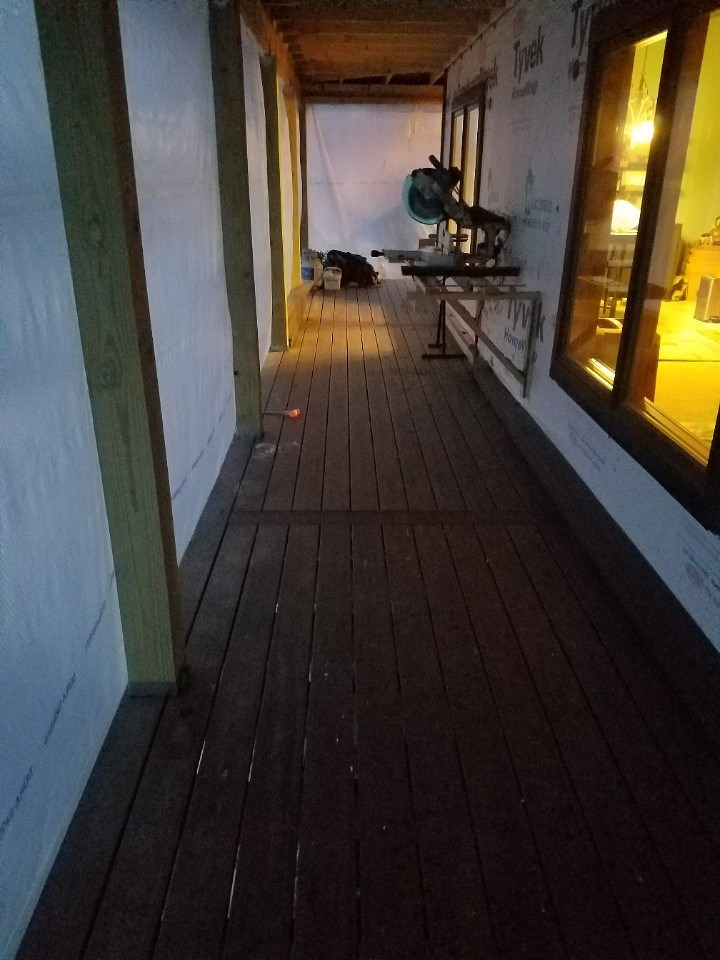 Front porch decking 1