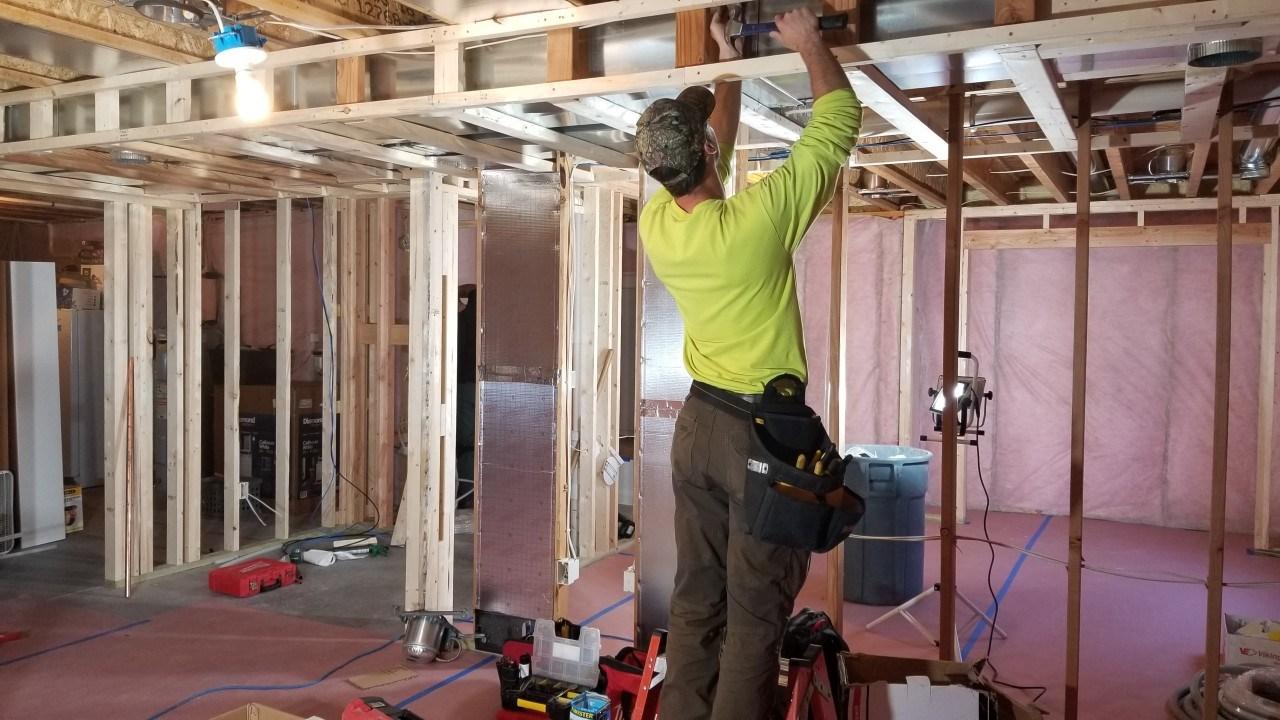 Electrical in basement bulkhead