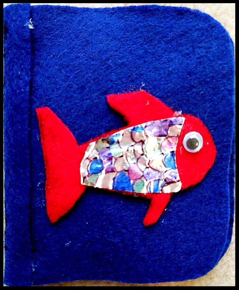 Felt The Rainbow Fish book shape for flannel board craft