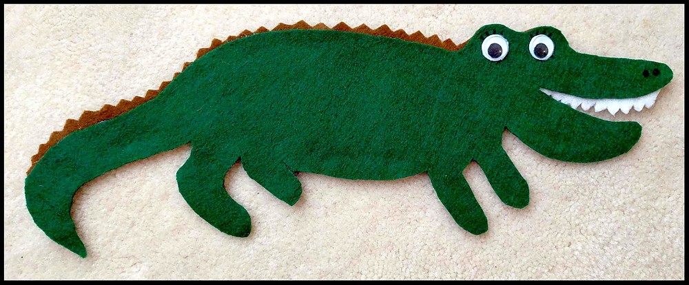 Mrs. Chinka Crocodile Librarian Flannel Board Shape
