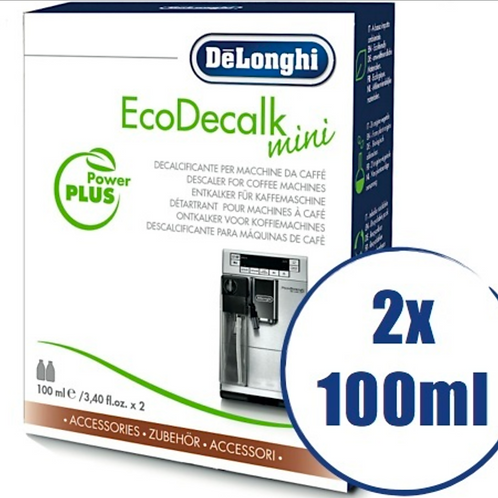 Lot de 2 détartrants Delonghi EcoDecalk pour machine automatique - 2 x 100ml