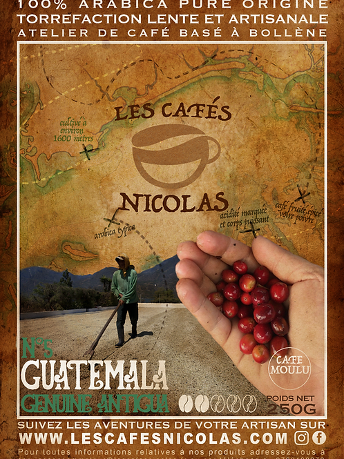 GUATEMALA- Antigua - Les Cafés Nicolas